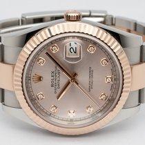 Rolex Datejust II Gold/Steel 41mm Pink No numerals Finland, Imatra