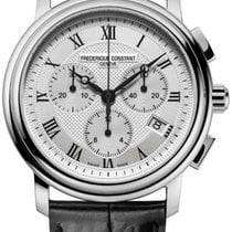 Frederique Constant Classics Chronograph Steel 40mm Silver Roman numerals United States of America, New York, Monsey