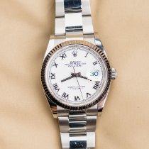 Rolex Datejust tweedehands 36mm Wit Datum Staal