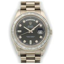 Rolex Day-Date II Oro blanco Plata