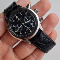 IWC Pilot Chronograph Acier 36mm Noir Arabes Belgique, Antwerpen