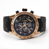TAG Heuer Rose gold Automatic Transparent 45mm pre-owned Carrera Calibre HEUER 01