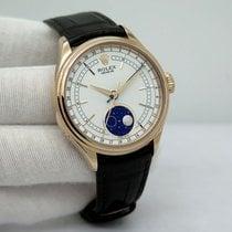 Rolex Cellini Moonphase Złoto różowe 39mm Biały Bez cyfr