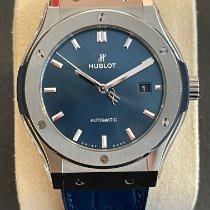 Hublot Classic Fusion Blue Титан 42mm Синий Без цифр