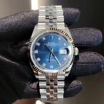 Rolex Datejust Acero 36mm Azul Sin cifras