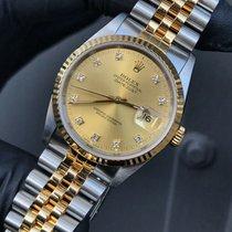 Rolex Datejust Gold/Steel 36mm Champagne No numerals United Kingdom, Reigate