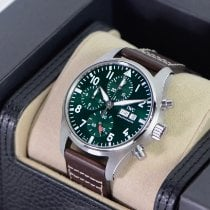 IWC Pilot Chronograph Steel 41mm Green United States of America, Texas, Houston