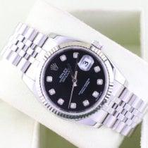 Rolex Datejust usato 36mm Nero Data Acciaio