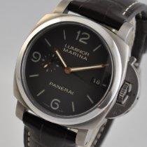 Panerai Titanium Automatic Brown Arabic numerals 44mm pre-owned Luminor Marina 1950 3 Days Automatic