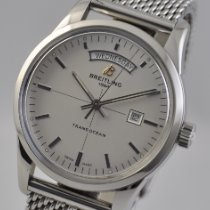 Breitling Transocean Day & Date Steel 43mm Silver United States of America, Ohio, Mason