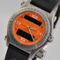 Breitling Emergency Титан 43mm Oранжевый Aрабские