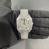 Cartier Santos (submodel) Steel 39.8mm Silver Roman numerals United States of America, California, Costa Mesa