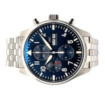 IWC pre-owned 43mm Blue Chronograph Date Weekday Steel