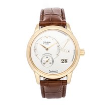 Glashütte Original Rose gold Manual winding Silver No numerals 39mm pre-owned PanoReserve