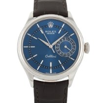 Rolex Cellini Date White gold 39mm Blue Arabic numerals