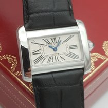 Cartier Tank Divan Steel 31.5mm White Roman numerals