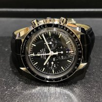 Omega Speedmaster Professional Moonwatch pre-owned 42mm Black Chronograph Tachymeter Crocodile skin