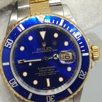 Rolex Submariner Date 16613 Muito bom Ouro/Aço 40mm Automático