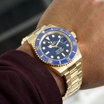 Rolex Желтое золото Автоподзавод Синий 41mm новые Submariner Date
