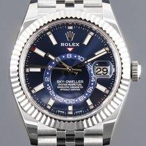 Rolex Sky-Dweller Çelik 42mm Mavi Rakamsız
