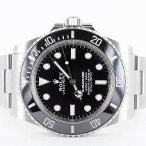 Rolex Submariner (No Date) Stahl 41mm Schwarz Keine Ziffern