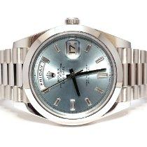 Rolex Day-Date 40 228206-0004 Nienoszony Platyna 40mm Automatyczny