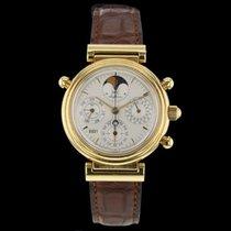 IWC Da Vinci Perpetual Calendar gebraucht Mondphase Chronograph Datum Wochentagsanzeige Monatsanzeige Jahreskalender Ewiger Kalender Gelbgold