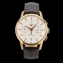 Longines Rose gold Automatic White pre-owned Flagship Heritage