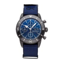 Breitling Ceramic Automatic Blue No numerals 44mm pre-owned Superocean Heritage Chronograph