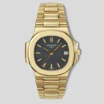 Patek Philippe Yellow gold Automatic Blue 37.5mm pre-owned Nautilus