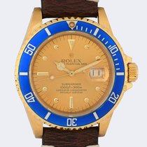 Rolex Желтое золото Автоподзавод Цвета шампань Без цифр 40mm подержанные Submariner Date