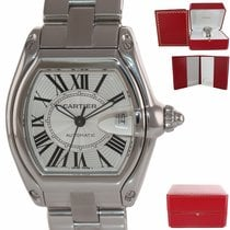Cartier Roadster Steel 36mm Silver Roman numerals United States of America, New York, Huntington