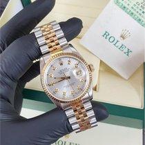 Rolex Datejust Gold/Steel 36mm Silver No numerals United Kingdom, Reigate