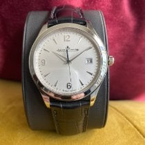 Jaeger-LeCoultre Master Control Date pre-owned 39mm Silver Date Leather