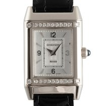 Jaeger-LeCoultre Reverso Lady pre-owned 28mm Silver Crocodile skin
