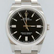 Rolex Oyster Perpetual 36 Staal 36mm Zwart Geen cijfers