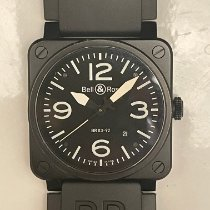 Bell & Ross Steel Automatic Black Arabic numerals 42mm pre-owned BR 03