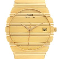 Piaget Polo Желтое золото 34mm Цвета шампань