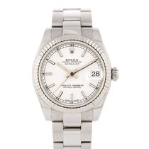 Rolex Lady-Datejust Acier 31mm Blanc