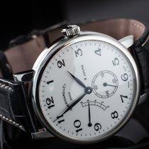 Eberhard & Co. 8 Jours Steel 41mm White Arabic numerals