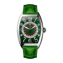 Franck Muller Vegas Steel Green Arabic numerals