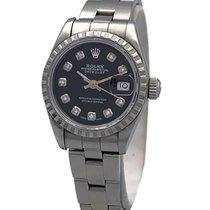 Rolex Oyster Perpetual Lady Date Acier 26mm Noir