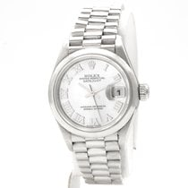 Rolex Platinum Automatic Mother of pearl Roman numerals 26mm pre-owned Datejust