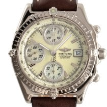 Breitling White gold Automatic Mother of pearl 39mm pre-owned Chronomat