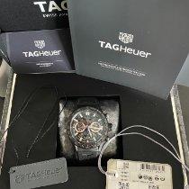 TAG Heuer Carrera gebraucht 43mm Transparent Chronograph Kautschuk