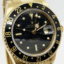 Rolex GMT-Master Žluté zlato 40mm Černá Bez čísel