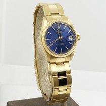 Rolex Datejust 31 Żółte złoto 31mm Niebieski Bez cyfr