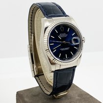 Rolex Złoto białe Automatyczny Niebieski Bez cyfr 36mm używany Datejust
