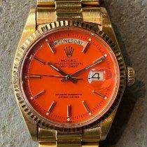 Rolex Day-Date 36 Желтое золото 36mm Oранжевый Без цифр