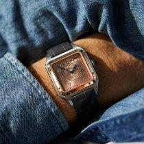 Cartier Santos Dumont Золото/Cталь 46.6mm Золотой Aрабские